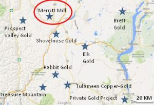 Merrit Mill and Tailings Map