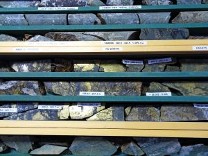 Nicola Mining New Craigmont Property core samples close up