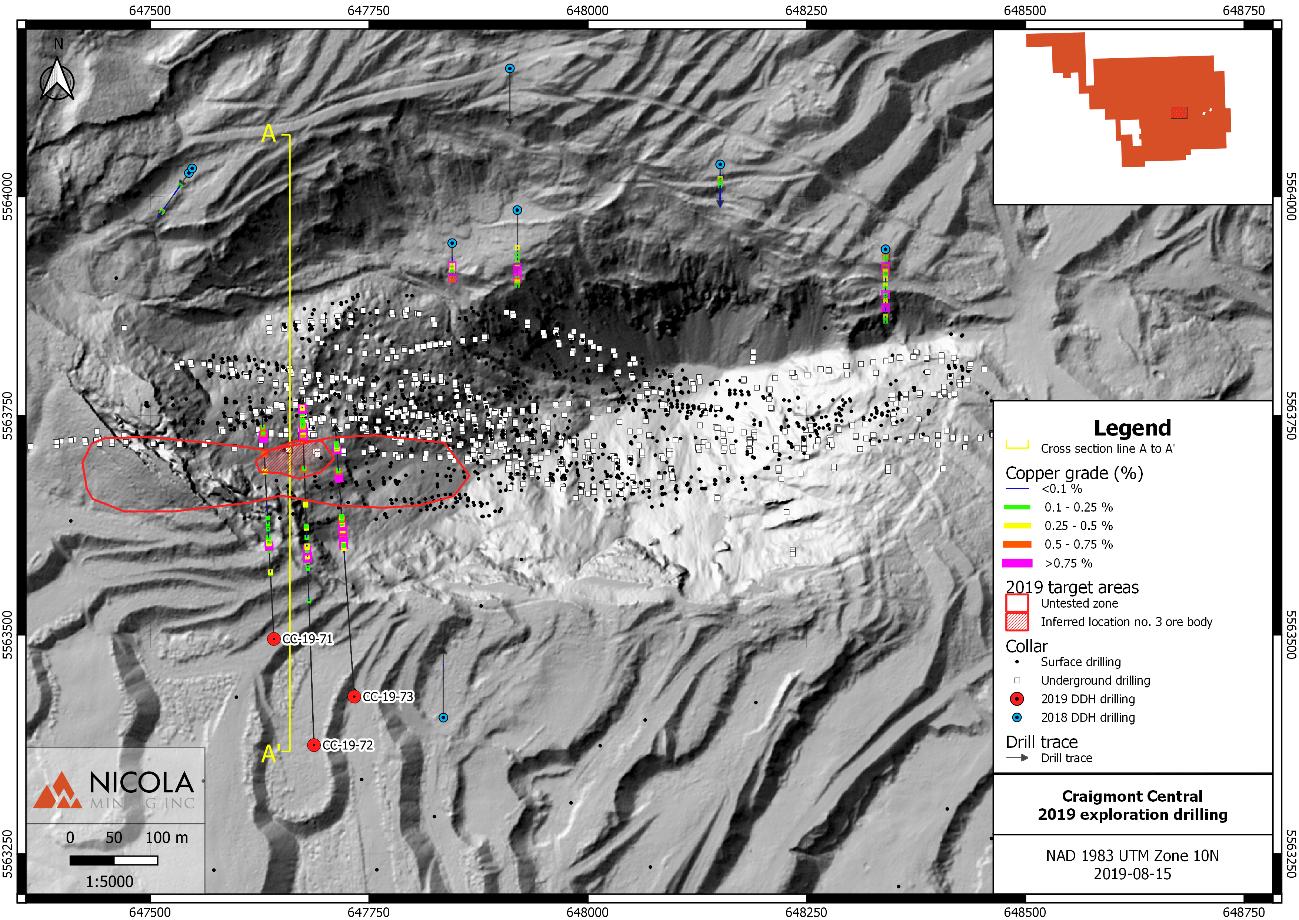 Nicola Mining Inc  Intersects Upper Zone Copper